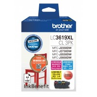 Brother LC3619XL Color 3Packs Orignal Cartridge ( C / M / Y )