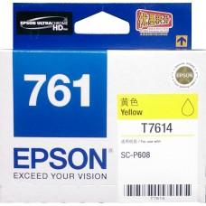 Epson 761 YELLOW Original Cartridge T761480 ( 黃 / Y )