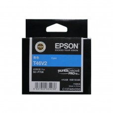 EPSON T46V2 Cyan Original Cartridge T46V200 ( 藍 / C )