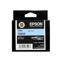 EPSON T46V5 Light Cyan Original Cartridge T46V500 ( 淡青色 / LC)