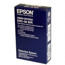 EPSON S015376 / ERC-38 B/R Original Ribbon ( 黑+紅 / BK+R )