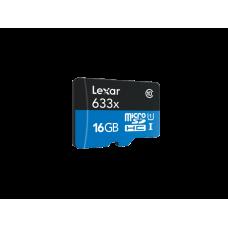 LEXAR 633X 16GB MicroSDHC Wtih SD ADAPTER