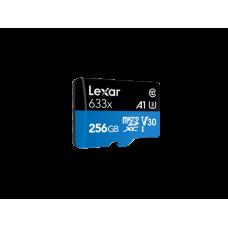 LEXAR 633X 256GB MicroSDXC With SD ADAPTER