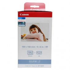 Canon KP-108IN Postcard ( 4R ) Size Color Ink / Paper Set