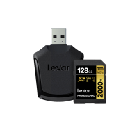 LEXAR 2000X 128GB SDHC With SD UHS-II reader