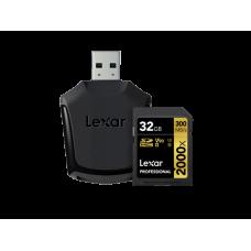 LEXAR 2000X 32GB SDHC With SD UHS-II reader