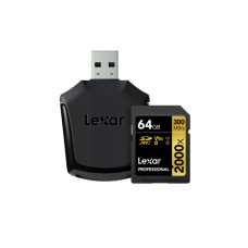 LEXAR 2000X 64GB SDHC With SD UHS-II reader